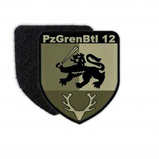 Patch PzGrenBtl 12 Wappen Panzergrenadier-Bataillon Osterode Abzeichen BW #35405