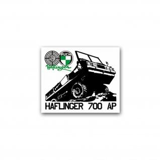 Aufkleber/Sticker Haflinger 700 AP Geländewagen Allradantrieb 8x7cm A2044