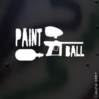 Aufkleber/Sticker Paintball Makierer Gotcha Knarre Waffe Hopper HP 15x7cm #A515