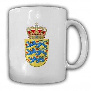 Dänemark Wappen Emblem Danmark - Tasse Becher Kaffee #13458