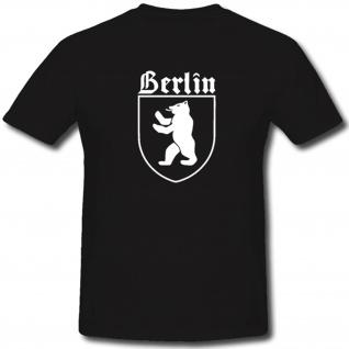 Berlin Wappen Stadt Hauptstadt Bär Abzeichen Emblem - T Shirt #1334