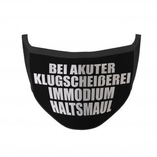 Mund Nasen Maske Bei akuter Klugscheißerei Immodium Haltsmaul #35276