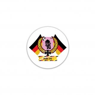 Aufkleber/Sticker PzBtl 293 Panzerbataillon BW Heer Militär Armee 7x7cm #A2356