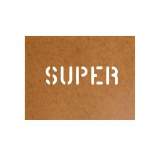 Super Kraftstoff Benzin Schablone Ölkarton Lackierschablone 2, 5x10cm #15102