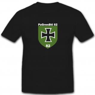 Bundeswehr Wappen Abzeichen Emblem Pzgrenbtl 82 - T Shirt #4021
