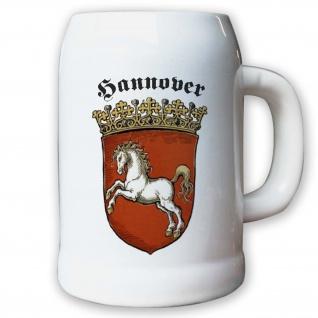 Krug / Bierkrug 0, 5l - Provinz Hannover Stadtwappen Deutschland #9490