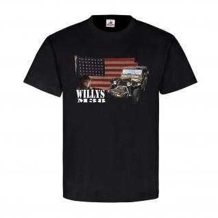Willys M38 Geländewagen Militär US Army D-day Soldat Amerika Flagge #23024