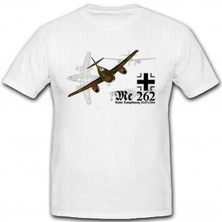 Me262 Flugzeug Luftwaffe WH WK Strahltriebwerke Jäger Schwalbe - T Shirt #4070