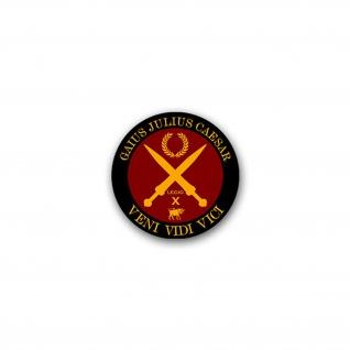 Aufkleber/Sticker Gaius Julius Caesar Veni Vidi Vici Kam Sah Siegte 7x7cm#A2255