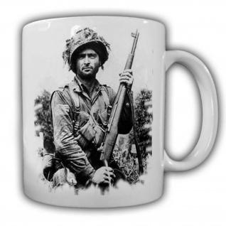 Tasse Us Soldat Kaffeebecher Stahlhelm Airborne Militär Willys M1#22127