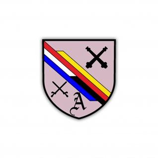 Aufkleber/Sticker 6 FArtBtl 295 Wappen Abzeichen Bataillon 7x6cm A1209