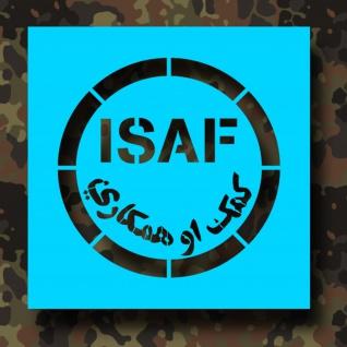 Lackierschablonen Aufkleber ISAF Militär Abzeichen Einheit 10x10cm A424