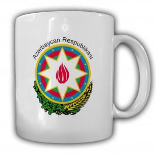 Aserbaidschan Emblem Republik Az?rbaycan Wappen Abzeichen-Tasse #13349