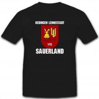 1 FlaRakBtl 22 Sauerland-Oedingen Lennestadt Flugabwehr Raketen - T Shirt #12735