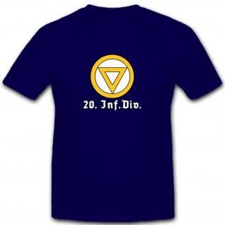 20Infdiv 20 Infanteriedivision Wh Wk Militär Abzeichen Wappen - T Shirt #5722