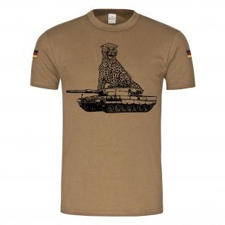 BW Tropen Leopard 2A4 Panzer Leo Tank BW Raubkatze PzBtl Tropenshirt #23386