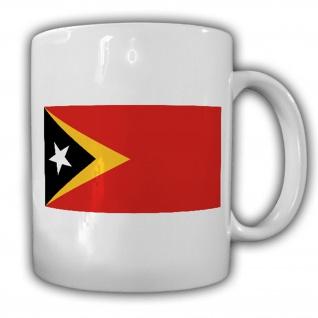 Osttimor Fahne Flagge Republik Timor-Leste Kaffee Becher Tasse #13845