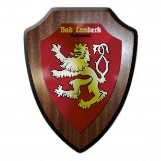 Wappenschild Bad Landeck Schlesien Heimat Wappen Polen Abzeichen #23506