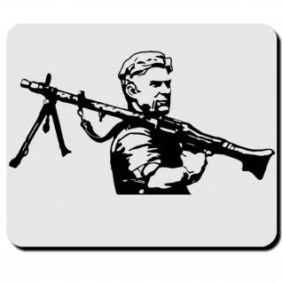 Soldat Militär Wk Wh Heer Ausrüstung MG34 Maschinengewehr Mauspad #16484
