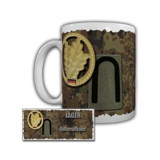 Tasse Jäger Unteroffizier HSchBrig 51 HSchKdo 13 Rangabzeichen Dienstgrad #29712