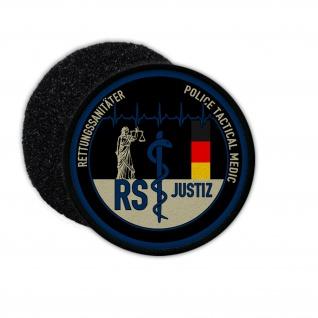 Patch Rettungssanitäter Justiz Klett Uniform Abzeichen RS rettsan notSan #35852