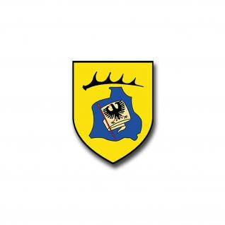 Aufkleber/Sticker VBK 1 Verteidigungskommando Stuttgart WBK Wappen 5x7cm A1174