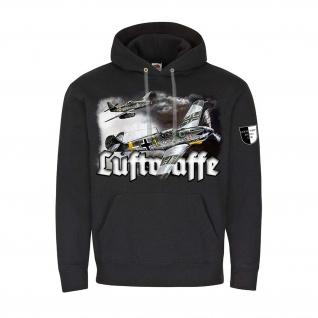 Hoodie Lukas Wirp LUFTWAFFE Me109 & Me262 Flugzeug Jäger Jagdflieger #24405
