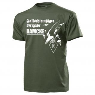 Fallschirmjäger Brigade Ramecke Wappen Abzeichen Grüne Teufel - T Shirt #15556