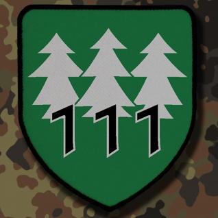 Patch / Aufnäher - PzGrenBtl 111 Bundeswehr Deutschland Militär Wappen #7833