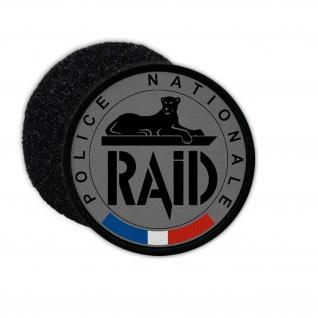 Patch RAID Police Nationale Frankreich Wappentier Klett Flausch Emblem #25091