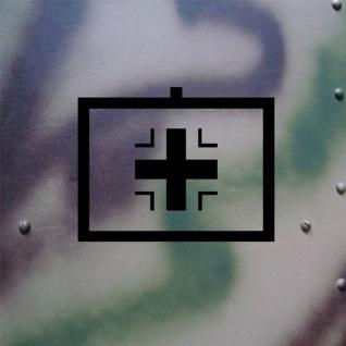 Aufkleber/Sticker Balkenkreuz Taktisches Zeichen passend für Kübel 18x14cm #A127