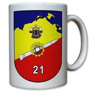 Wappen Flarak 5 21 Bund Flugabwehr Raketen - Tasse Kaffee Becher #11806
