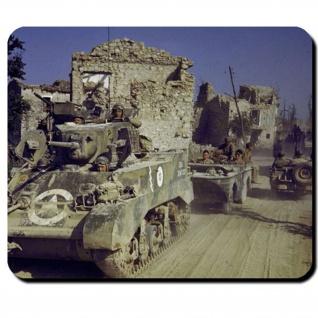 US Army WW2 Europe Amerika Wk Panzer Stuart Schwimmwagen - Mauspad PC #7947
