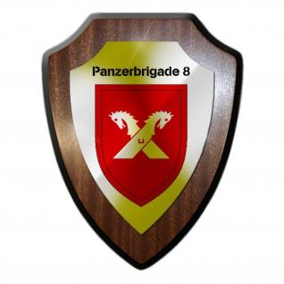 Panzerbrigade 8 PzBrig Einheit Kompanie Militär Abzeichen Wappenschild #19892