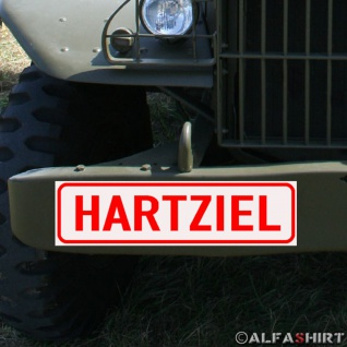 Magnetschild Hartziel - Panzer Bundeswehr für KFZ Fahrzeuge #A175