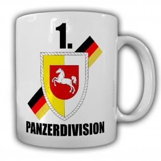 Tasse 1 Panzerdivision PzDiv Panzer Division Hannover Oldenburg Bundeswehr #24480