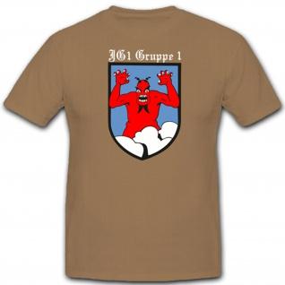I./JG1 I.Gruppe Jagdgeschwader 1 Luftwaffe WK 2 Wh Wappen Emblem- T Shirt #1710