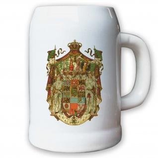Krug / Bierkrug 0, 5l - Herzogtum Sachsen Herzog deutsches Adelsgeschlecht #9445