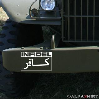 Sticker Aufkleber Infidel Ungläubiger Crusader Kreuzritter Soldaten 10x6cm #A069