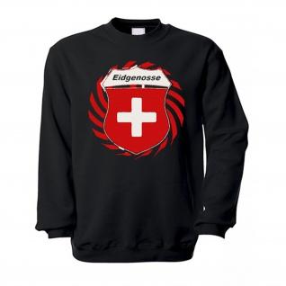 Eidgenosse Schweiz Schweizer Alpen Swiss Wappen Abzeichen Kreuz Pullover #13382