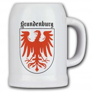 Bierkrug Wappen Brandenburg Adler Wappentier Land Bund Deutschland #31971