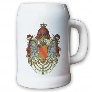 Krug / Bierkrug 0, 5l - Großherzogtum Baden Adel Weimarer Republik Deutsch #9436