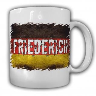 Tasse Friederich Deutschland Fahne Landesflagge Kaffeebecher #22175