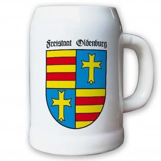 Krug / Bierkrug 0, 5l - Freistaat Oldenburg Weimarer Republik Wappen #9458