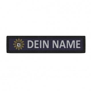 Patch Namensschild Polizei Berlin Klett Streifen personalisiert mit Namen #38391