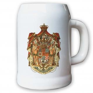Krug / Bierkrug 0, 5l - Herzogtum Braunschweig Monarchie Herzog Abzeichen #9441 K