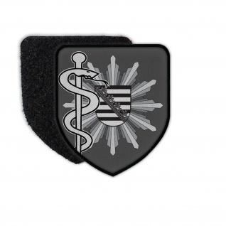 Patch Polizeiarzt Sachsen Abzeichen Arzt Doktor Mediziner Aufnäher #31829