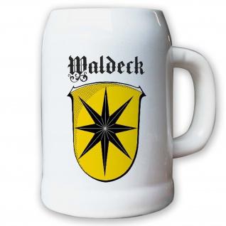 Krug / Bierkrug 0, 5l - Waldeck deutsche Geschichte Stadtwappen Wappen #9410 K