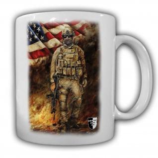 Tasse Lukas Wirp US Marine im Feuersturm USA Fahne Flagge Amerika Soldat #24100t