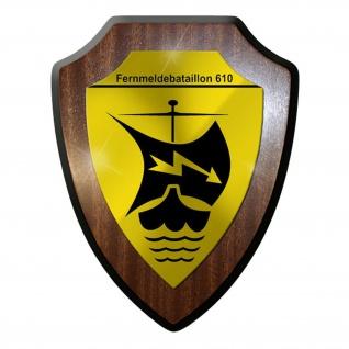 Wappenschild / Wandschild / - Fernmeldebataillon 610 FmBtl Funker #8943